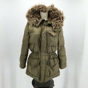 Ralph Lauren Parka Puffer Jacket Womens S Green Zi